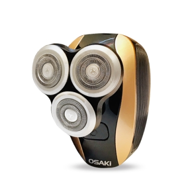 OSAKI USB充插電2用可水洗3刀頭掌心電動刮鬍刀