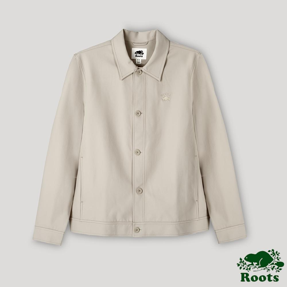 Roots男裝- 摩登週間系列  防潑水外套式襯衫-卡其色
