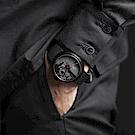 22四度空間水泥機械錶-黑武士款-45mm/PVD黑