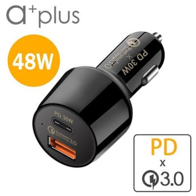 a+plus PD 30W+高通認證QC3.0 超極速車用充電器ACC-QCPD30W