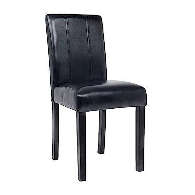 AS-亞伯特黑皮胡桃餐椅-42x54x91cm