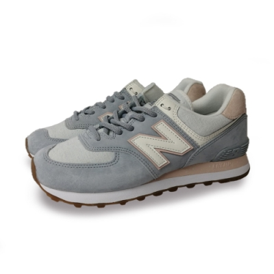 New Balance 運動鞋 574 復古鞋 經典 麂皮 女鞋 藍 粉 WL574SUOB