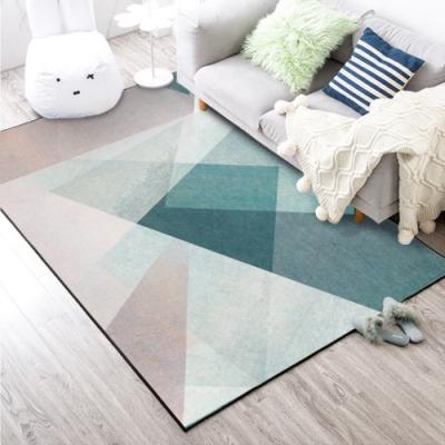 BUNNY LIFE 幾何交叉-北歐風舒柔水晶絨地毯
