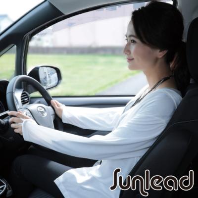 Sunlead 接觸涼感防曬修身長版連帽外套/罩衫 (象牙白)