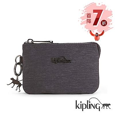 Kipling 零錢包 紋路質感深咖-小
