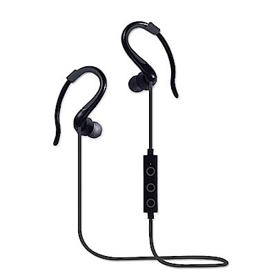 YANG YI 揚邑 YS008運動立體聲耳掛入耳式IPX4級防潑水藍牙耳機-黑色