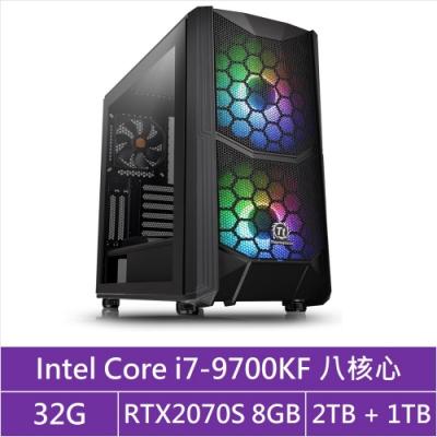 (無卡分期12期)技嘉Z390平台[統帥魔將]i7八核RTX2070S獨顯電玩機