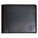 agnes b.經典品牌蜥蜴LOGO壓紋四卡零錢短夾(黑)