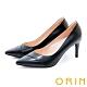 ORIN 造型剪裁真皮尖頭 女 高跟鞋 黑色 product thumbnail 1
