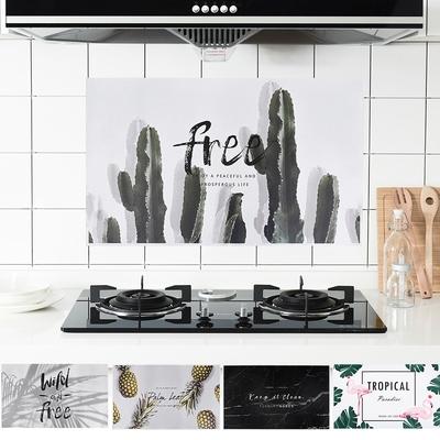 [18元加購] 半島良品 DIY北歐風廚房防污防油煙貼/防油牆貼