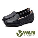 W&M 縫線細節 樂福鞋 休閒女鞋-黑(另有淺灰)
