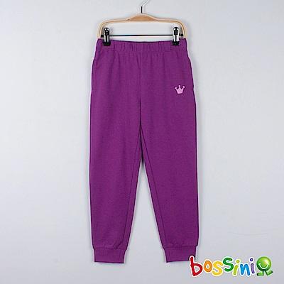 bossini女童-輕鬆針織長褲01淡紫