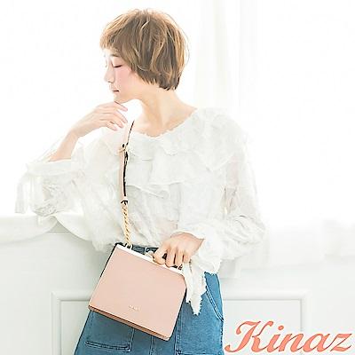 KINAZ 花園精靈鏈帶斜背包-紗裙粉-紫藤花系列