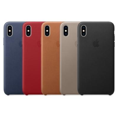 Apple 原廠 iPhoneXs Max 皮革保護套 (台灣公司貨)