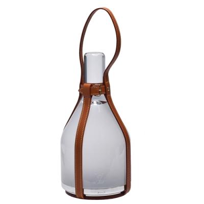 LV R99648 限量設計師Bell Lamp皮革飾邊LED桌燈(焦糖色)