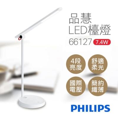 Philips 飛利浦 7.4W 品慧可調光LED檯燈 66127 [限時下殺]