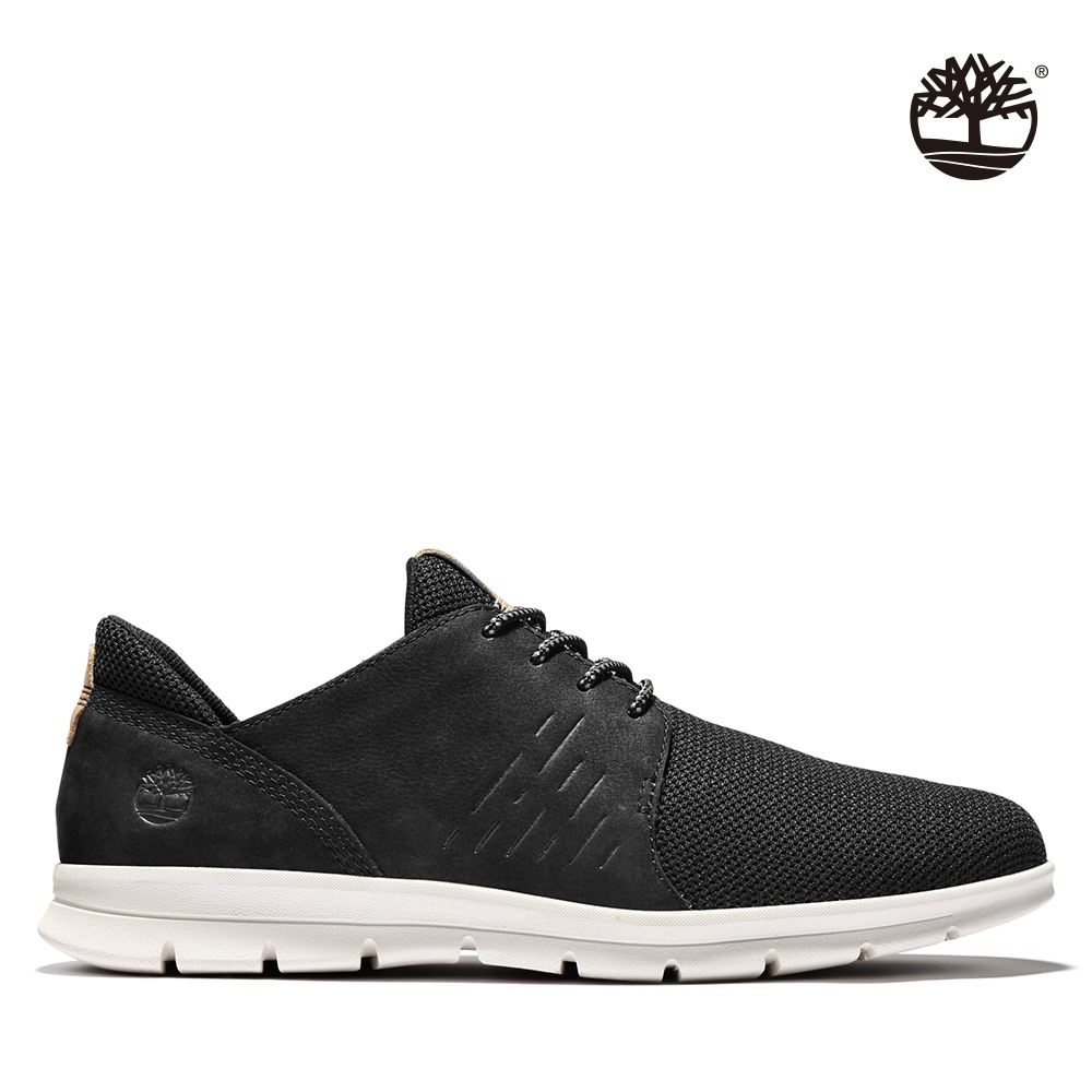 Timberland 男款黑色磨砂革Graydon休閒鞋|A1XG2