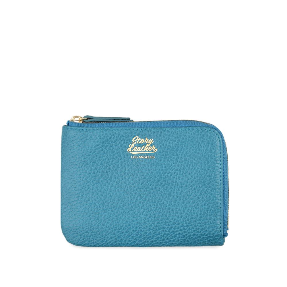 STORYLEATHER Style 91023 牛皮零錢包 荔枝紋土耳其藍