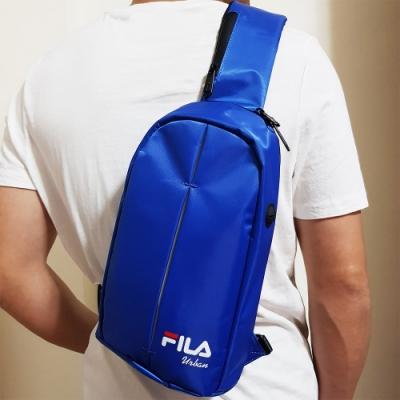 FILA 時尚單肩斜包 斜背包 休閒旅遊-寶藍色