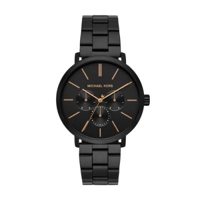 MICHAEL KORS美式經典個性黑鋼時尚腕錶MK8703