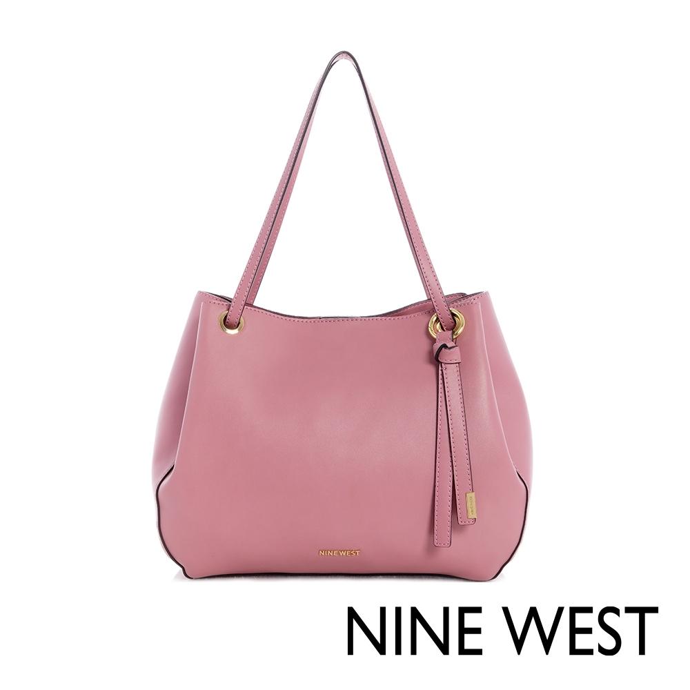 NINE WEST BELLPORT大容量扭結吊飾肩背包-粉色(111423)