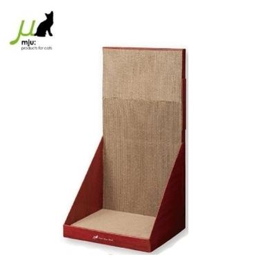 日本Gari Gari Wall(MJU)長方造型 貓抓板 (可立牆)XL號-咖啡紅(AIM-CAT004) (購買第二件贈送寵鮮食零食1包)