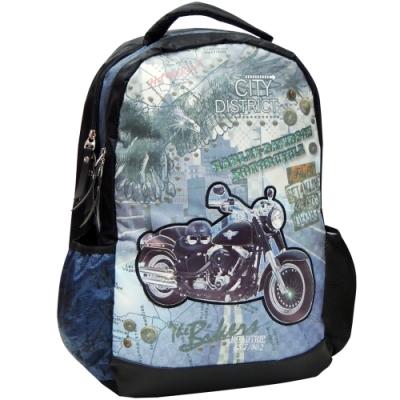 【MAXPERO】復古摩托車19吋後背書包 / 兒童背包 / 後背包