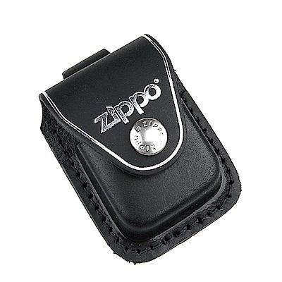 ZIPPO 金屬扣式~打火機皮套(黑色款)