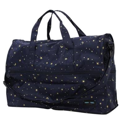 【HAPI+TAS】女孩小物折疊旅行袋(小)-星空藍