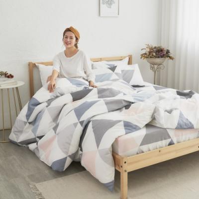 BUHO 天然嚴選純棉雙人加大三件式床包組(天空之鏡)