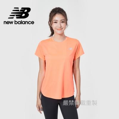 【New Balance】Dry短袖T_女性_粉橘_WT11452PPR