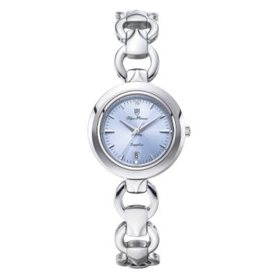 Olym Pianus 奧柏表 晶漾微笑優雅時尚鍊錶-藍 2474LS