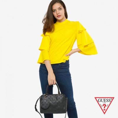 GUESS-女包-經典壓紋LOGO手提兩用包-黑