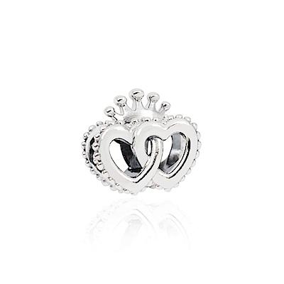 Pandora 潘朵拉 魅力皇冠雙心 純銀墜飾 串珠