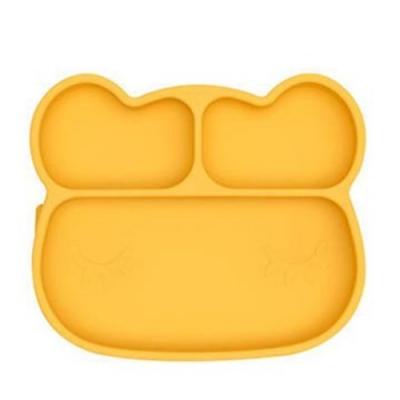 澳洲We Might Be Tiny 矽膠分隔餐盤熊寶寶-萊姆黃