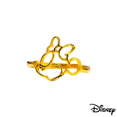 Disney迪士尼系列金飾 黃金戒指-親親美妮款