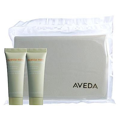 AVEDA 洗面棉+純型淨顏保濕乳25ml*2
