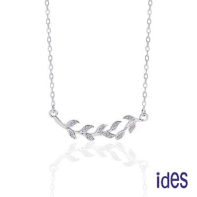ides愛蒂思 日韓時尚設計純銀晶鑽項鍊/文藝