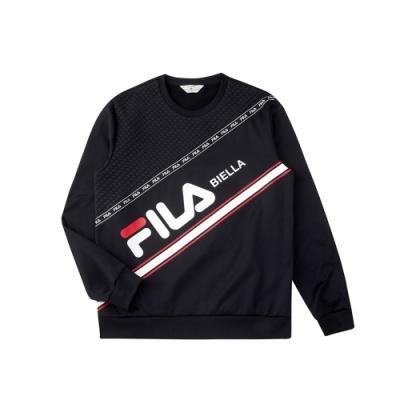 FILA 男吸濕排汗圓領T恤-黑色 1TEU-5482-BK