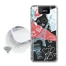 ASUS ZenFone 6 ZS630KL 浪漫彩繪 水鑽空壓氣墊手機殼(巴黎鐵塔)