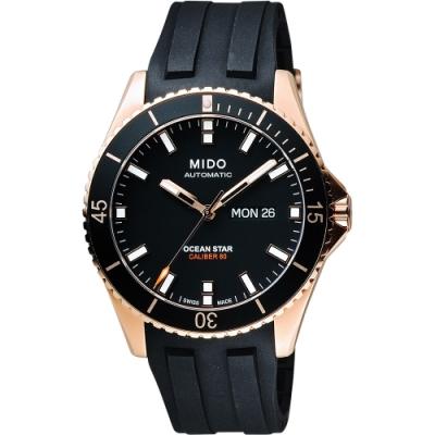 MIDO 美度 Ocean Star Caliber 80 200米潛水機械錶-42mm M0264303705100