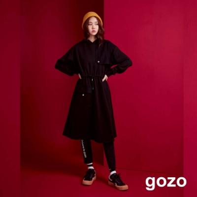 gozo 拼接造型口袋抽繩洋裝(二色)