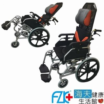 海夫健康生活館 FZK 傾舒芙 頭靠 空中傾倒 移位 輪椅 16吋座寬 20吋後輪_AC1620