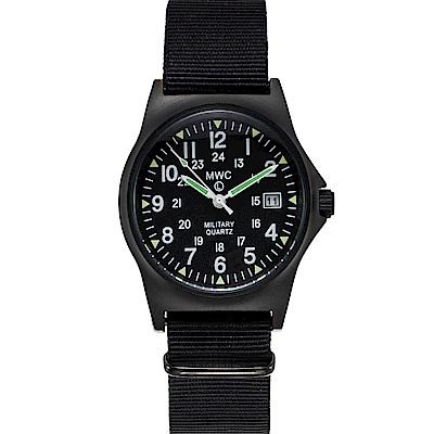 MWC瑞士軍錶 G10LM 12/24雙時區 PVD不鏽鋼設計錶 -黑色/35mm @ Y!購物