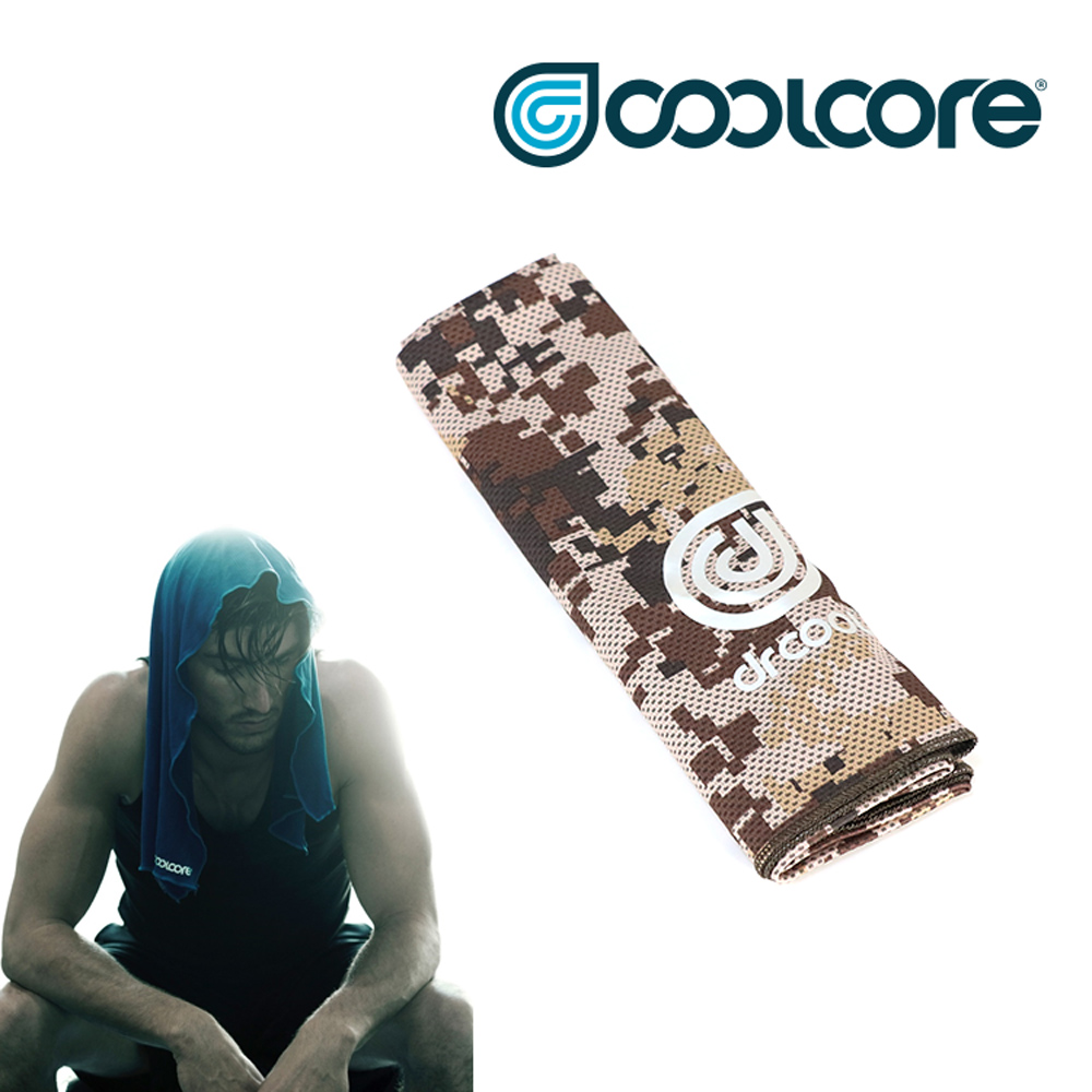 COOLCORE Chill Sport 涼感運動巾 【數位迷彩系列】 數位迷彩棕