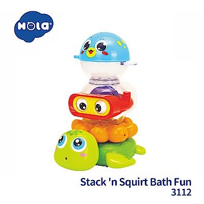 香港HOLA幼兒洗澡玩具-水陸小縱隊 3112