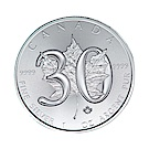 楓葉銀幣-2018年30週年紀念銀幣 (1盎司)
