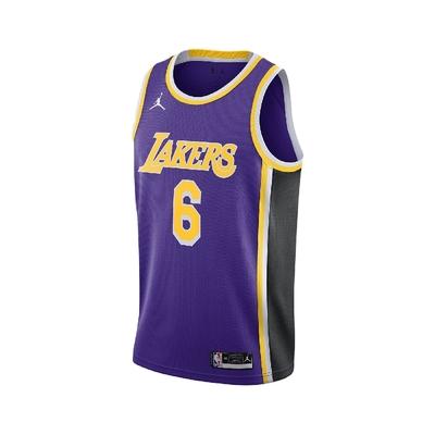 Nike 背心 Lakers NBA Jerseys 男款 籃球 球衣 洛杉磯 湖人 乾爽舒適 紫 黃 CV9481-513