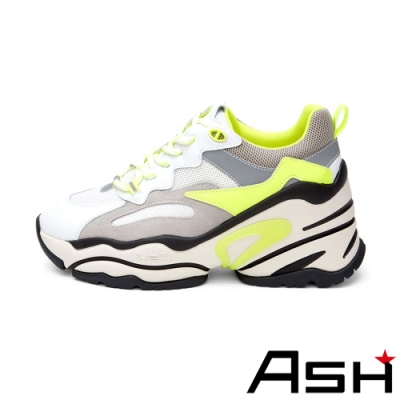 ASH-BLAST時尚潮流休閒運動鞋坡跟增高老爹鞋-黃