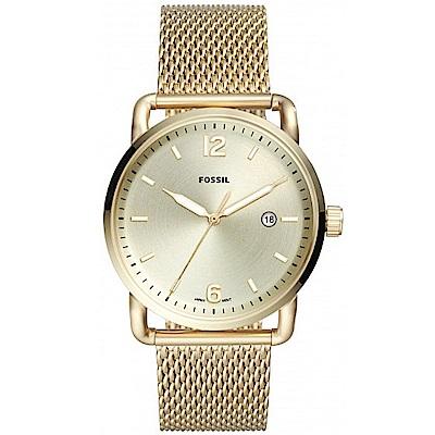 FOSSIL 大亨小傳大錶徑米蘭帶手錶(FS5420)-香檳金/42mm